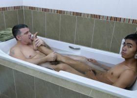 Robin and Daddy Bathroom Fuck