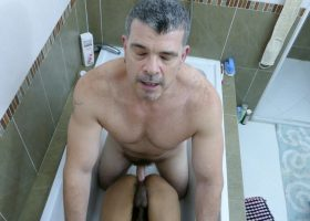 Robin and Daddy Bathroom Fuck