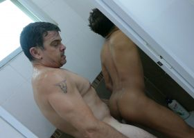 Alex and Daddy Bath Tub Bareback