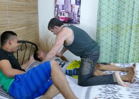 Kinky Dad and Son Threesome